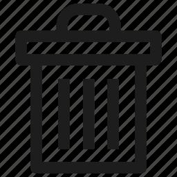 bin, cancel, delete, erase, recycle, tool, trash icon