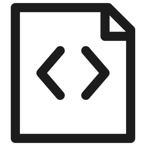 code, coding, extension, filetype, format, programming icon