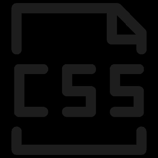 coding, css, extension, filetype, programming icon