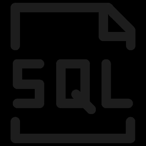 coding, database, filetype, hosting, programming, sql icon