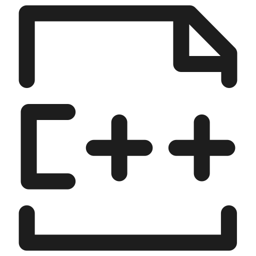 c++, coding, extension, filetype, programming icon