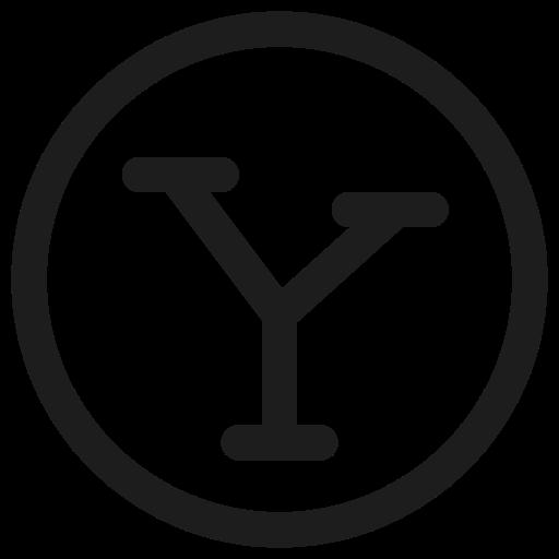 sharing, social media, website, yahoo icon