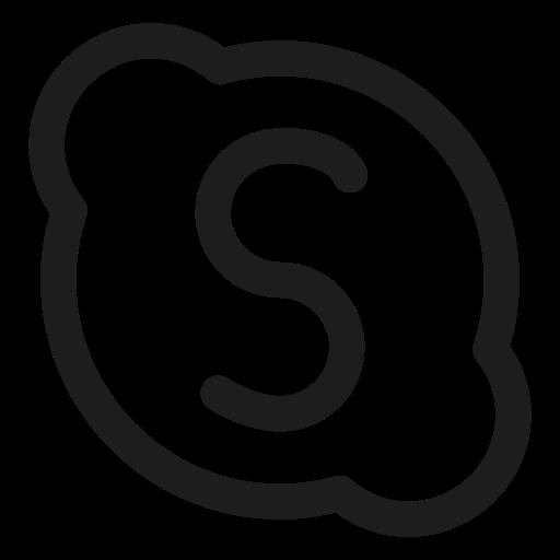 chatting, friend, sharing, skype, social media icon