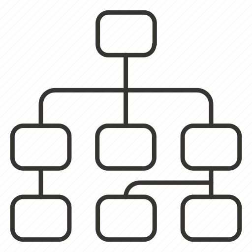 business, hierarchy, network, organization, structure icon