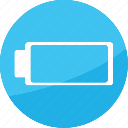 battery, empety, film, studio icon