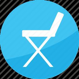 chair, director, directory, entertainment, film, furniture, studio icon