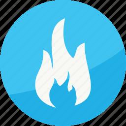 burn, film, fire, flame, player, studio icon
