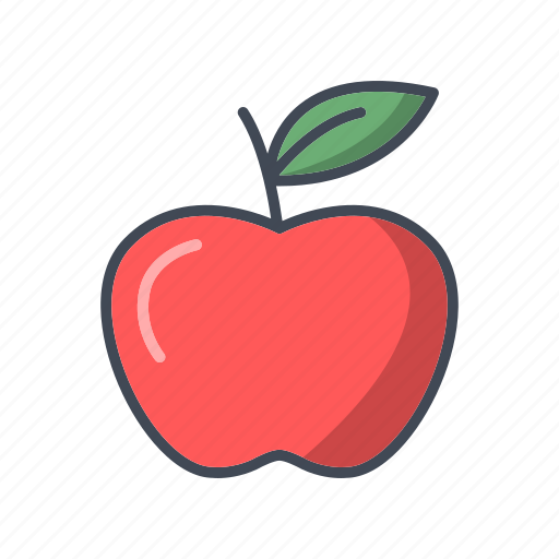 apple, food, fruit, healthy icon