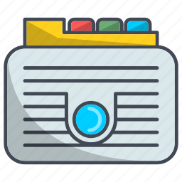 archive, directory, documents, folders icon