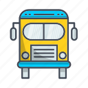 bus, education, school, transportation, truck icon
