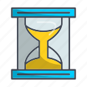 clock, hourglass, sandglass, schedule, timer icon