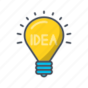bulb, electric, idea, lamp, light, lightbulb, seo icon