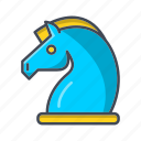business, chess, horse, marketing, optimization, seo, strategy icon