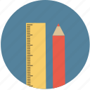 pencil, ruler icon