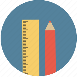 pencil, ruler icon