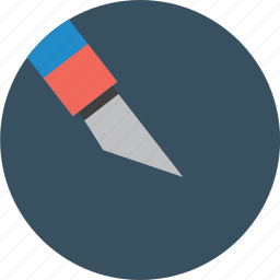 knife, pen, school icon