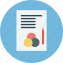business, chart, pencil icon