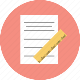 business, notebook, ruler icon
