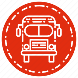 bus, knowledge, learning, school, study icon