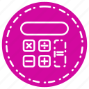 calculator, knowledge, learning, school, study icon