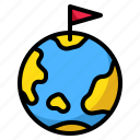 earth, flag, geography, goal, war icon