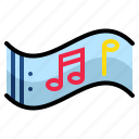 key, music, note, scroll, song, tone icon