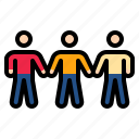 partner, power, social, sociology, team icon