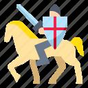 history, horse, knight, war, worrior icon