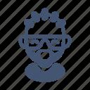 afroamerican, avatar, badboy, beard, glasses, male, rapper icon