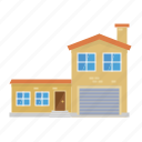 annex, architecture, building, home, house, suburban icon