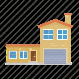 annex, architecture, building, home, house, suburban icon