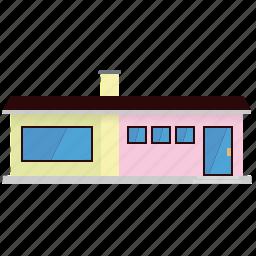 building, bungalow, home, house, pastel, suburban icon