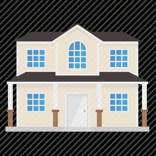 building, home, house, porch, suburban, wooden icon