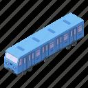 business, car, cartoon, isometric, metro, modern, train