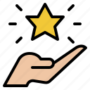 hand, hold, star, best, success