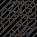 dollar, earth grid, interface, internet, multimedia, world, worldwide icon