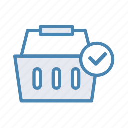 accept, approve, basket, cart, ok, shopping, tick icon