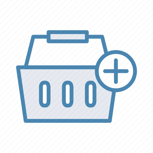 add, basket, cart, plus, shopping icon