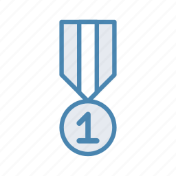 award, first, medal icon