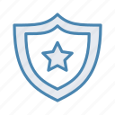 antivirus, control, favorite, safe, sheild, shield, star icon