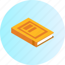 book, education, knowledge, learning, notebook, school, study icon