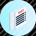 check, checklist, list, mark, menu, navigation, test icon