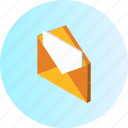 brief, communication, email, envelope, letter, mail, message icon
