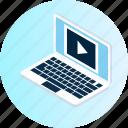 communication, computer, desktop, hardware, laptop, monitor, technology icon