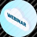 cloud, computing, database, server, storage, weather, webinar icon