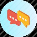 bubble, communication, conversation, interaction, interface, message, speech icon