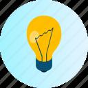 bulb, creative, creativity, design, idea, illustration, lamp icon