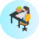 education, knowledge, learning, reading, school, study, university icon