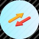 arrow, arrows, direction, download, location, move, navigation icon