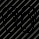 footwear, slate icon